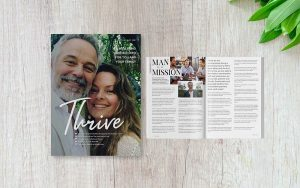 Cover page for Thrive Magazine, Health and Wellbeing E-magazine of Solitaire Medical Group