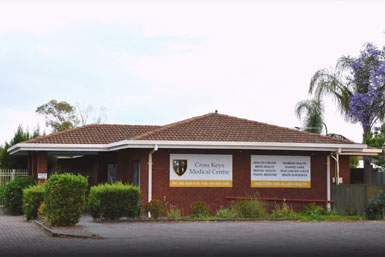 Exterior view of Cross Keys Medical Centre which provides Bulk Billing GP, Allied and specialist health services in Brahma Lodge